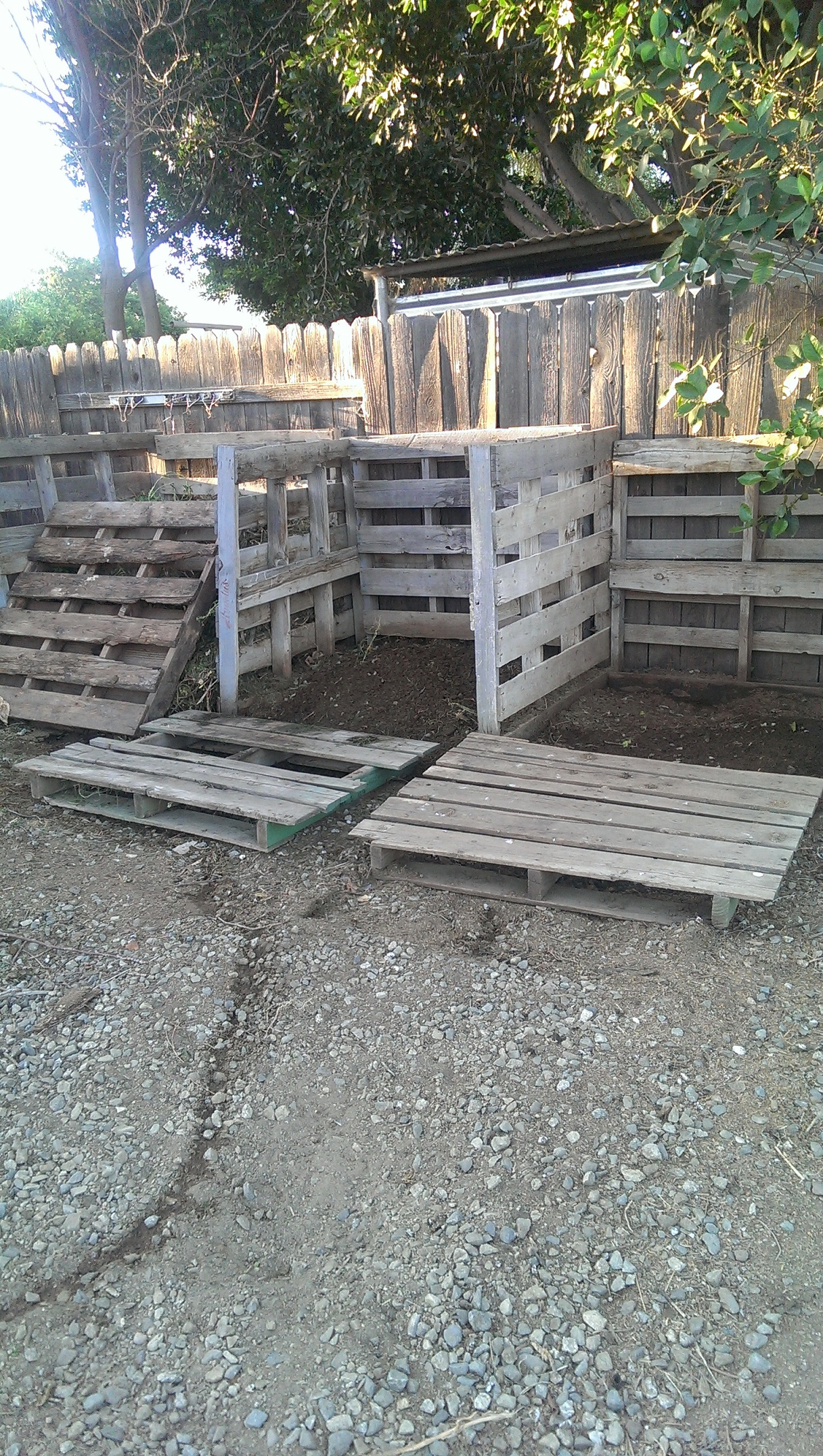 Compost Bins made from wooden palettes
